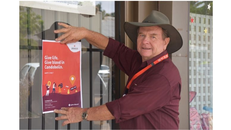 GIVE LIFE GIVE BLOOD IN CONDOBOLIN
