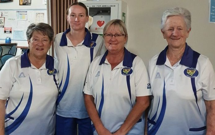 Margaret Dopper, Danielle Thompson, Wendy Ryan and Pam Nicholl (Skip) were the winners of the 2020 Club Drawn Fours. An extra end had to be played to decide the winning team. Pam played the perfect last bowl to seal a win for her team. Image Credit: Pauleen Dimos.
