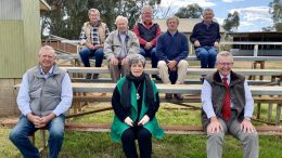Member for Parkes Mark Coulton (front, right) with Condobolin P A H & I President Jeff Kirk and Secretary Carol-Ann Malouf OAM (front), along with members Noel Donnelly and Tony Mooney (middle), and Len Krebs, Graham McDonald and David McDonald (back) – the Condobolin Show is one of numerous ag shows across the Parkes electorate which have received funding under the Supporting Agricultural Shows and Field Days program. Image Credit: Melissa Blewitt.