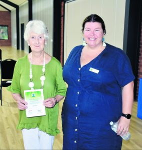 Lachlan Shire Community Service (Australia Day Award) winner Gail Copeland with Councillor Melissa Rees. Image Credit: Melissa Blewitt.