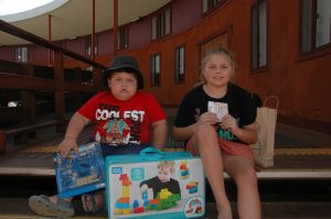 Josiah Dodgson and Candy Dodgson had a great time at the successful charity day. Image Credit: Kathy Parnaby.