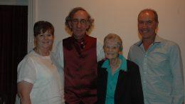 Julie Neyland, Phillip Aughey, Elaine Ambrose and Glenn Neyland. Image Credit: Kathy Parnaby.