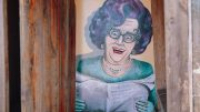 'Dame Edna's Looute' – an Icon (Dame Edna), on an Icon (the outback 'Dunny'), in an icon (the Holden Ute) by local Condobolin artist Karen Tooth. Image Credit: Andrew Barnes.