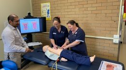 Jamie Coello, Manager Rural Generalist Nurse Education Team (RG-NET) and two WNSWLHD nurses taking part in RG-NET training.Image Credit: Western NSW Local Health District (WNSWLHD).