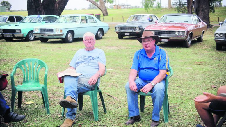 Terry and Larry enjoyed the Condobolin Veteran, Vintage and Restoration Club Inc's Australia Day run to Gum Bend Lake Image Credits: Malcolm Parnaby.
