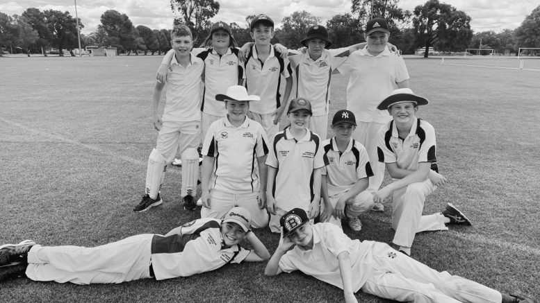 The Condobolin Under 12s Intertown Squad in November last year. Image Credit: Condobolin Junior Cricket Association Facebook Page.