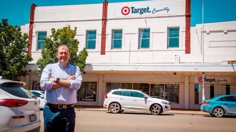 Below - NSW Nationals Upper House MP, Sam Farraway is excited a K-Mart is coming to Forbes. It will be positioned in the current Target Country store.