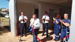 George Pratt from the Parkes Shire Council is pictured here cutting the ribbon. George prior to his retirement had served as a Ambulance Officer for over thirty years. Source and Image Credit: A Town Like Trundle Facebook Page.