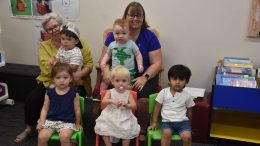 Kim Roberts, Rory Bendall, Clive Birkett and Condobolin Library Assistant Abby Grimshaw (at back) together with (front) Bethany (BB) Ridley, Lynette Haworth and Henick Patel enjoyed Storytime at the Condobolin Library on Wednesday, 10 February. Storytime is now being held from 10.30am to 11am. Bookings are now essential as the Library can only accommodate up to 20 people in a session due to COVID-19 regulations. Image Credit: Melissa Blewitt.