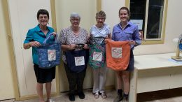 Above - Heather Blackley, Margaret Swanston, Jan Cox and Sarah Cranney were part of the first Boomerangs Bags Sewing Bee, held at Western Plains Regional Development on Friday, 26 February. The next Sewing Bee will be held on Friday, 26 March. If you are interested in participating and helping to cut the plastic in landfill ring Sarah Cranney on 0499 199 018 or email condobolindistrictlandcare@gmail.com. Image Contributed.