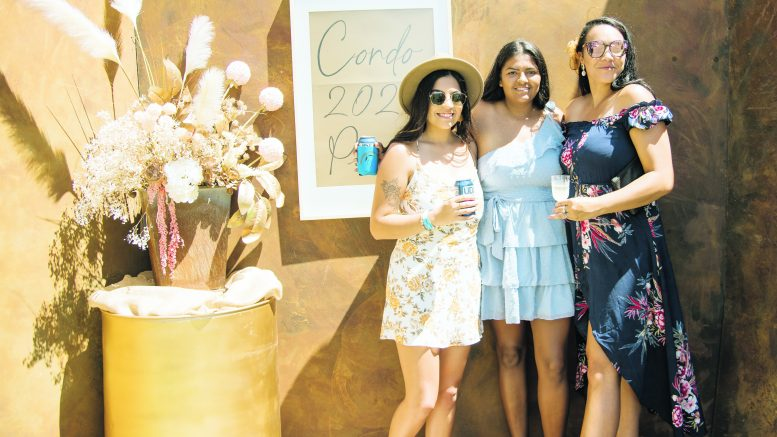 Aleisha Johnson, Shnaya Johnson and Dannelle Powell were dressed to impress at the 2021 Condobolin Picnic Races. Image Credit: Kathy Parnaby.