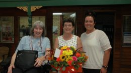 Anne Coffey, Heather Blackley and Jess Loftus. Heather was recognised for her community service and dedication. Image Credit: Kathy Parnaby.