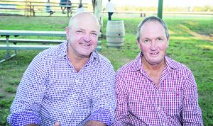 Brad Hurley and Darren Frankel enjoyed the Calcutta event. Image Credit: Kathy Parnaby.