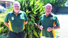 Lions Club International Immediate Past District Governor Peter Bright and Lions Club International District Governor (2020/2021) Stuart Freudenstein are urging local residents to become part of the Condobolin Lions Club. There will be a meet and greet outside of Chamen's Supa IGA on Saturday, 6 March from 10am, and a free community barbecue at Lions Park from 12 noon on Sunday, 14 March. Image Credit: Melissa Blewitt.