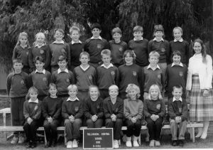 The classes of Years Four, Five and Six from Tullibigeal Central School in 1989. (Back Row) Bridget Ryan, Pennie Ryan, Stephen King, Jessie Ford, Peter King, Kristin Ireland, Mark Fyfe, Nicole Ireland and Amanda Campbell; (Middle Row) Trent Glasgow, Tamara King, Sue Ireland, Terry Worland, Tim Helyar, Melissa-Anne Haworth, Malcolm Lewis and Kelly Glasgow; (Front Row) Cheryl Bax, Rebecca Payne, Mark Helyar, Olivia-Rose Haworth, Mark Leadbitter, Carroll Dodgson, Sarah Barrass and Leon Haworth. The teacher was Angela Mackin.  Image Credit: West Wyalong and Beyond Facebook Page.