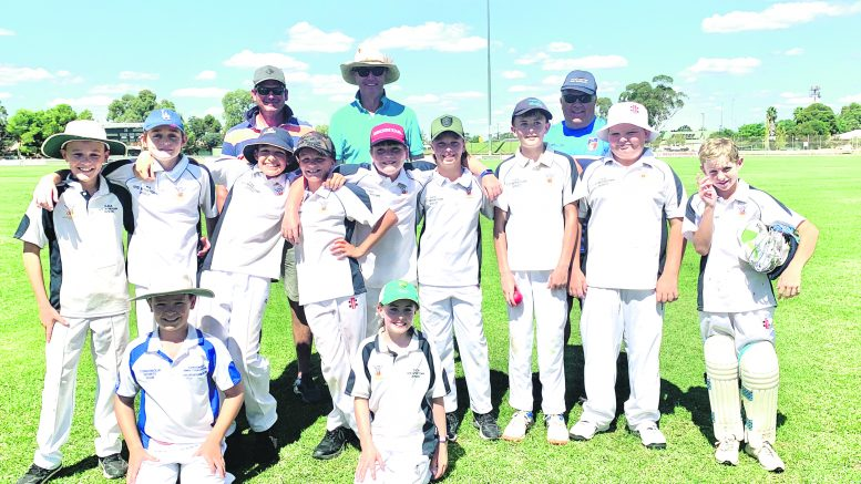 The Condobolin Under 12s Intertown Cricket Team headed to West Wyalong for the final round of the Lachlan Valley Under 12 Intertown Cricket Competition for the season. They came away with an wonderful win. Image Contributed.