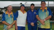 Condobolin Pennants team were beaten by Forbes who go onto the Zone Finals. Michael Waller, Peter Brasnett, Andrew Brasnett and Brett Byrnes were defeated on Sunday playing against Forbes. Image Credit: Kathy Parnaby.