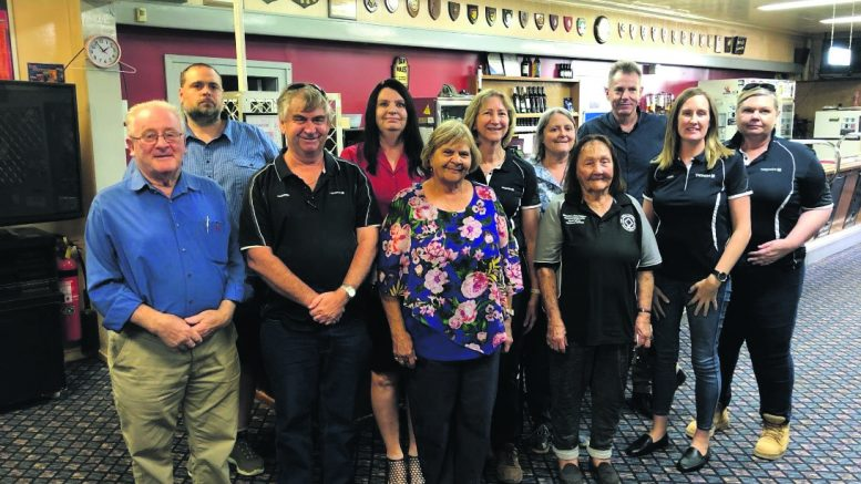 L-R: Ray Longfellow, Greg Edwards, Warren Smith, Robyn McMasters, Faye Johnson, Annette Elliott, Marie Kelly, Joan (Slade), Andrew Godfrey, Louise Miller, and Deb Stokes. Source and Image Credits: Ivanhoe Central School's Newsletter.