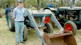 Joe Bowen with his Fordson Major. Photo courtesy of Dave Morrison