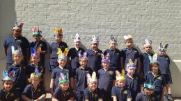 Condobolin Public School students in 1/2B were 'hip-hopppity' ready for the Easter Hat Parade on Thursday, 1 April. Image Credit: Condobolin Public School Facebook Page.