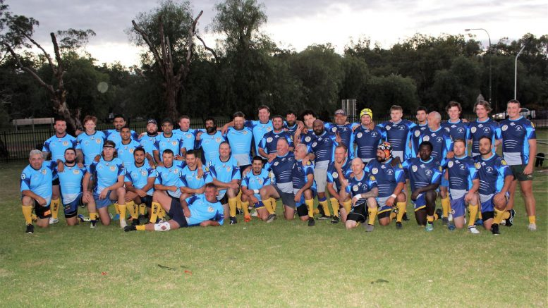 The Condo V's Condo Men's Wellbeing Rugby Match, played on Saturday, 10 April was dedicated the Wade Grogan. Image Credit: Marion Wighton-Packham.