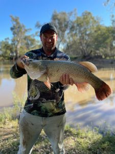 Rodney Haworth caught a 71 centimetre Murray Cod on the Lachlan River over Easter. The fish was returned to the River