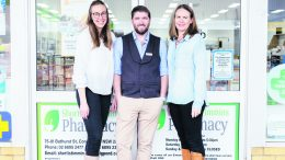 Ashleigh Rees, David Rees and Carolyn Girle of Shortis and Timmins Pharmacy. Image Contributed.