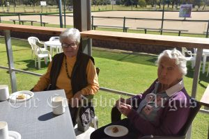 Liz Goodsell and Val Hayden enjoyed the Seniors Week celebration event in Condobolin.