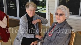 Betty Berry and Beryl McSweyn had a lovely time at the Condobolin Seniors Week celebration.