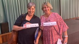 Jenny Tyack and Annie Ryan spoke about the health concerns in Condobolin at the parliamentary inquiry into health outcomes and services in rural, regional and remote areas of New South Wales when it visited Cobar on Friday, 30 April. Image Credit: Roy Butler MP Facebook Page.