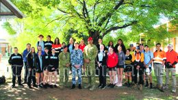 On Wednesday, 28 April three Defence Force Recruiters visited Condobolin High School to talk to students about the Australian Defence Forces (ADF) where they discussed with students their lives in the Defence Forces and also how to join. Image Credit: Kathy Parnaby.
