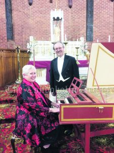 Renowned Anglo Australian Tenor William Amer and Harpsichordist Tracy Callinan. mage Credit: Heather Blackley.