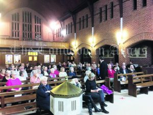 A crowd of around 70 enjoyed 'the Harmonies on the Hill' event.
