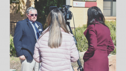 Lachlan Shire Council Mayor John Medcalf OAM wants to shorten Daylight Saving Time (DST) to no more than four months of the year. He was interviewed on the topic on Wednesday, 28 April. Image Credit: Melissa Blewitt.
