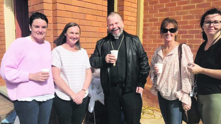Rachael Bendall, Kristy Ticehurst, Bishop Columba Macbeth-Green OSPPE DD, Jude Ryan and Caitlin Templeman. Image Credit: Bishop Columba Macbeth-Green OSPPE DD Facebook Page.