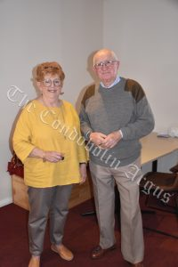 Helen and John Atkinson were recognised for their 10 years of service. Image Credit: Melissa Blewitt.