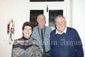 Heather Blackley, Rex Press and Lachlan Shire Councillor Dennis Brady.