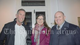 Simon Carey, Kerry Kempnich and Lachlan Shire Council General Manager Greg Tory enjoyed the official opening.