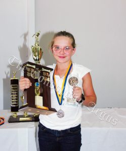 Hailey Brangwin won the Bev Parnaby Memorial Trophy - Primary. Image Credit: Kathy Parnaby.