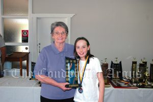 Sue Bell with Chloe Stuckey (10 Years Girls Champion Runner Up). Image Credit: Kathy Parnaby.