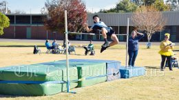 riston Ross broke a long standing High Jump record at the Condobolin High School Athletics Carnival on 19 May. He jumped 1.53 metres, breaking the record previously held by Craig Hucker way back in 1984. Image Credit: Melissa Blewitt.