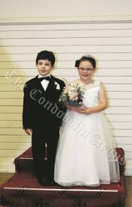 Page Boy Charlie Worthington and Flower Girl Gabrielle Curry. Image Credit: Lucy Kirk.