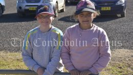 Rivah and Peyton Stevenson were eager to participate in the Treasure Hunt at the SRA Grounds on Tuesday, 29 June. Image Credit: Melissa Blewitt.
