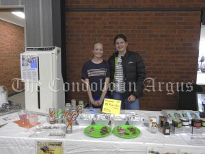 • Emma Patton and Bonnie Leighton helping out at Wendy Patton's 'Amway' stall. Image Credit: Lucy Kirk.