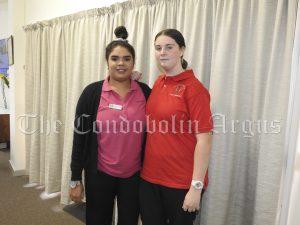 Latoya Kirby, Jessica Hutchings (yr10) - RSL LifeCare