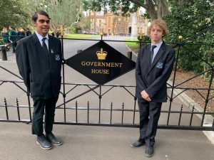 Lake Cargelligo Central School Captains Ben Harris and Ben Hall visited Government House when they participated in a Lachlan Access Program Leadership Excursion in early June. Image Credit: Lachlan Access Program Facebook Page.