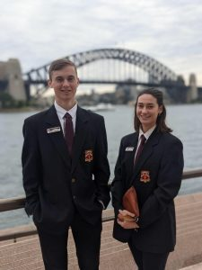 Ungarie Central School Captain William Batty and Kadee Gerhard-Scali met with State Member for Barwon Roy Butler, and State Member for Cootamundra Steph Cooke when they attended a Leadership Excursion in Sydney in early June. Image Credit: Lachlan Access Program Facebook Page.