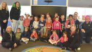 Staff and children at Lachlan Children Services showcased colour and uniqueness during Crazy Hair Day on 5 August. They held the event to raise awareness of Cystic fibrosis (CF). Image Credit: Melissa Blewitt.