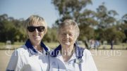 Cathy Thompson (left) was the winner of the Minor Single title. She was victorious over Joyce Kendall (right). Image Credit: Kathy Parnaby.