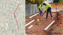 A site map of the areas which will see footpath construction works. Image Credit: Lachlan Shire Council. Lachlan Shire Council has commenced footpath construction works at the front of Condobolin High School on Busby Street, and the corner of Busby and Innes Streets, construction will then continue down Innes Street and Officers Parade. Image Credit: Lachlan Shire Council